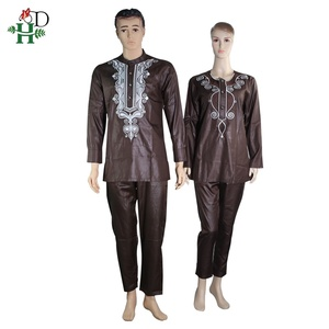 Image 3 - H&D 2020 African Women Dress South Africa Suits For Women Bazin Riche Embroidery Dashiki Shirt Pant Set Outfit Suit Clothes Robe