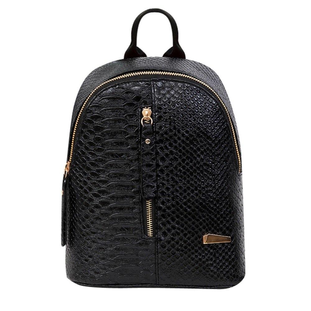 Women Leather Backpacks School bags Rucksacks Travel Backpack female Shoulder Women Bag Hot Chain Mochila escolar feminina 2017