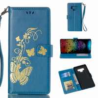 Luxury Embossing Butterfly PU Leather Case for Samsung Galaxy S6 S7 Edge S8 S9 Plus Note 9 8 5 Flip Wallet Cover Case Bags