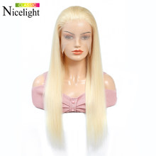 Long Straight 613 Frontal Wig Human Hair Wig Platinum Blonde Bob Wig Lace Front Wig Nicelight 13X4 Lacefront Wig Indian Hair Wig(China)
