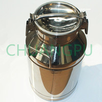 50L Stainless Steel304 Material Milk Can, Milk Jars, Milk Barrel with Lids for Cow/Goat Milking Machine