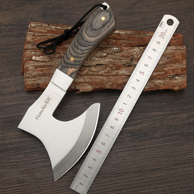 2019 Sharp F702 Survival tomahawk axes hatchet camping hand fire axe Boning Knife for Chopping meat Bones 1