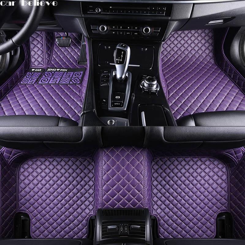 Car Believe Auto car floor Foot mat For jaguar xf xj F-PACE XJL F-TYPE XK XFL XEL car accessories waterproof styling 3d full covered waterproof boot carpets durable custom car trunk mats for 2012 2018 year jaguar xfl xel xjl f pace xf xj