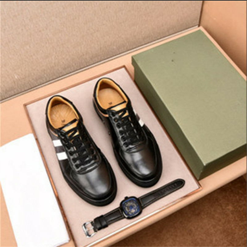 Diseñador Vaca Los Calidad blue Genuino Moda Zapatos Excelente Black white Cuero Hombres De Lujo Modelos Hombre wq4pFBTxT