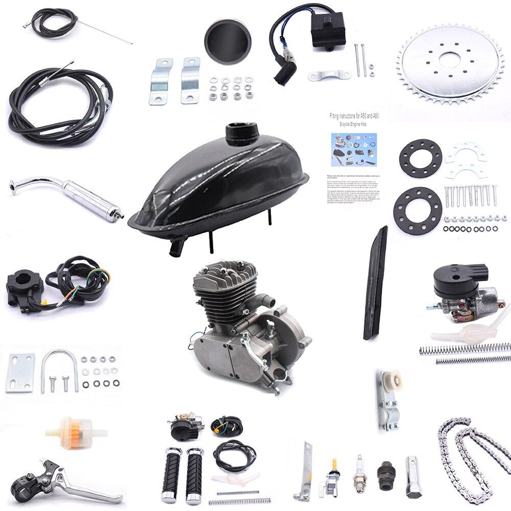80cc 2-hub Fahrräder Motor Kit Fahrrad Motor Geändert Kit 5000r/min Fahrräder Motor Conversion Kit Für 24