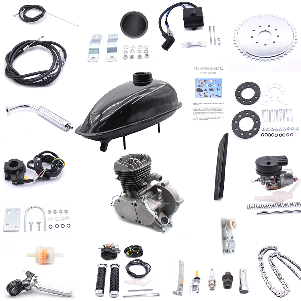 80cc 2-stroke Bicycles Motor Kit Engine Modified Kit 5000r/min Bicycles Engine Conversion Kit For 24