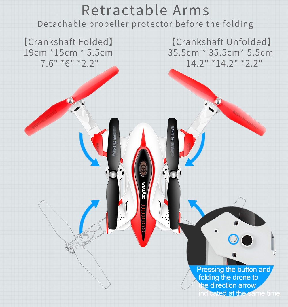 SYMA Official X56W RC Drone Folding Quadrocopter With Wifi Camera Real-time Sharing Flashing Light RC Helicopter Drones Aircraft 5