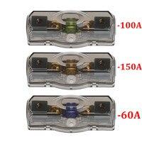 Ootdty suporte de caixa de fusível de carro  bloco de tensão estéreo  ferramenta durável 60a/100a/150a