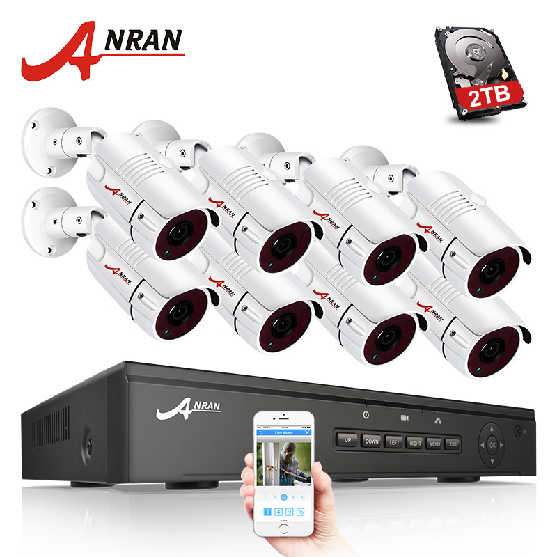 ANRAN P2P Plug and Play 1080P HD 8CH POE NVR 36 IR Day Night Outdoor Waterproof Security POE IP Cameras CCTV System Wiht 2TB HDD premium premium пилинг ферментативный homework tropic venice гп040123 100 мл