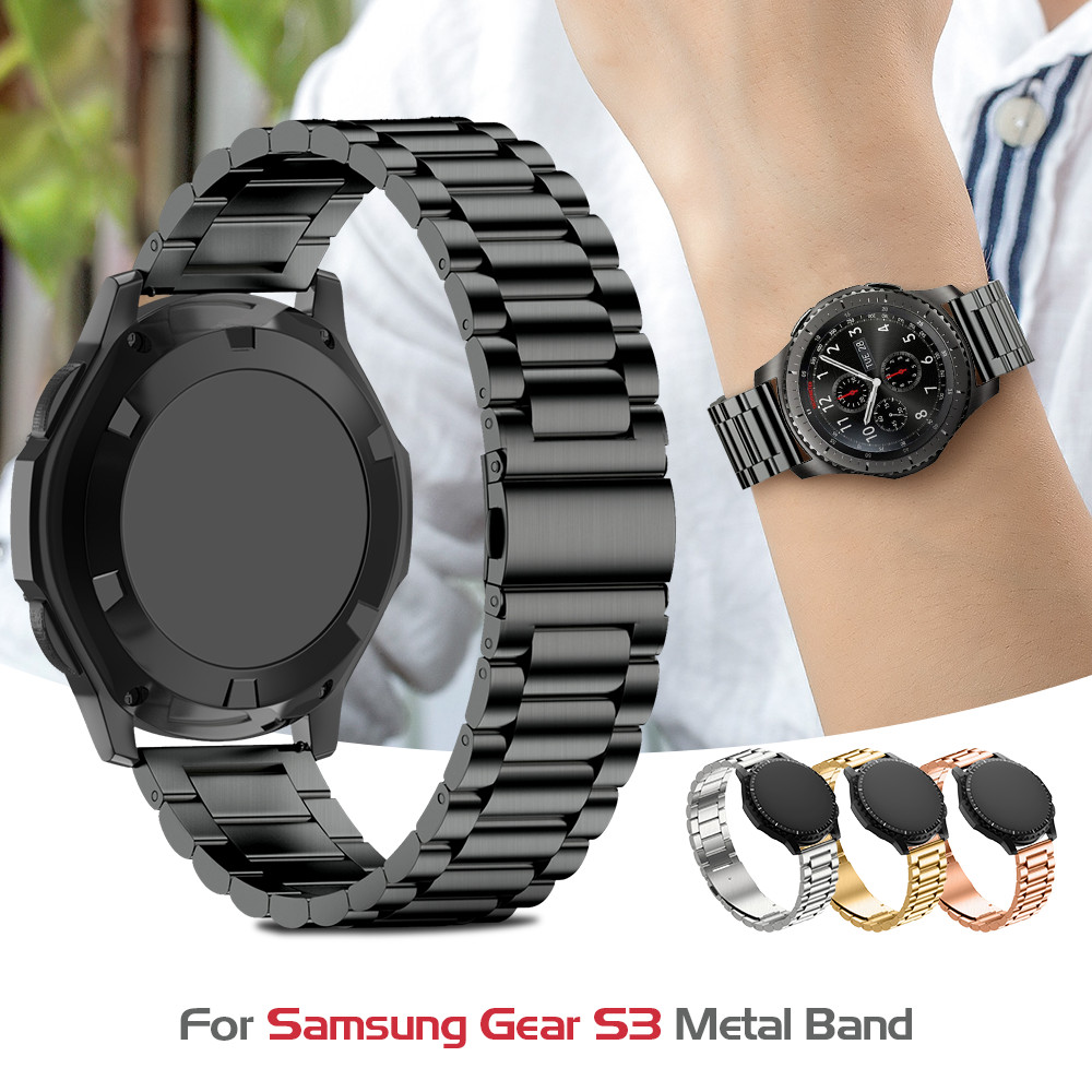 Stainless Steel Watch Band For Samsung Gear S3 Classic Metal Strap For Gear S3 Smart Watch 3 Link Watchband With Adjustment Tool