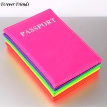 ForeverFriendsLavender fluorescencyjny posiadacz paszportu okładka PU Lear ID Card Fashion paszport podróży obejmuje paszport kredyt Case tanie tanio Akcesoria podróżne Masz Przyjaciele na zawsze 14 2 cala 9 8 cala Skóra PU P4001-P4015 Stałe Pokrowce na paszport
