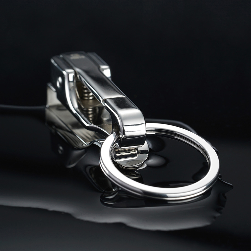 Image 5 - 304 Stainless Steel Car Key Chain Belt Waist Hanging Simple High Quality Men KeyChain Buckle Key Ring Holder Fathers Day GiftKey Chains   -