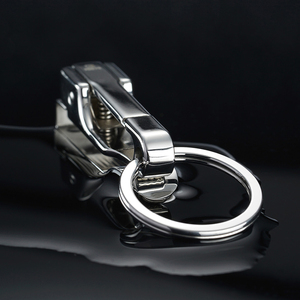 Image 5 - 304 Stainless Steel Car Key Chain Belt Waist Hanging Simple High Quality Men KeyChain Buckle Key Ring Holder Fathers Day Gift