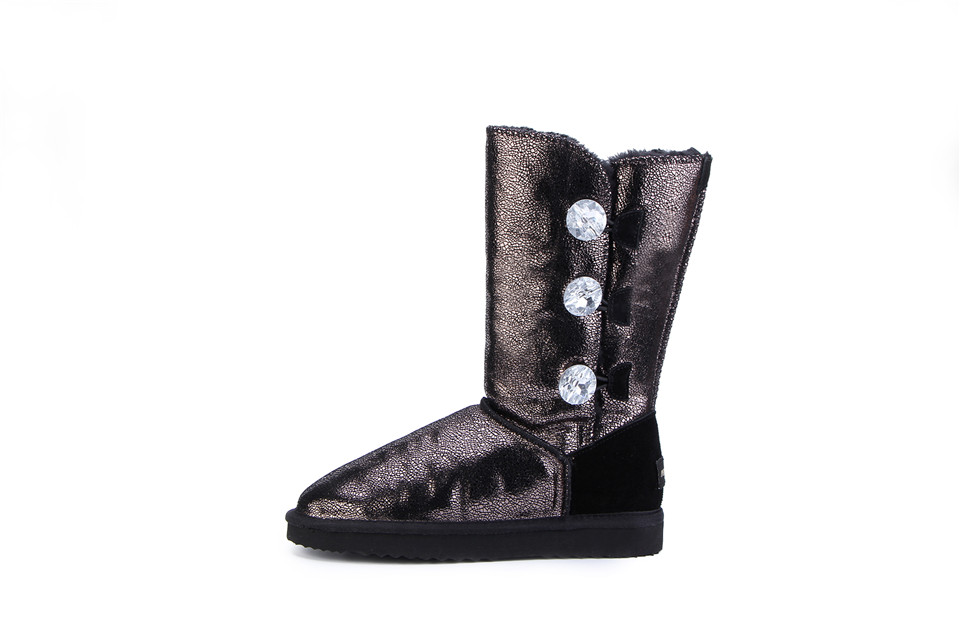 calidad superior precio loco selección premium TISEPO UGS Women Fur Winter Boots Mujer Botas Waterproof Genuine Cowhide  Leather Snow Boots Warm Wool High For Women High Heel Boots White Boots  From ...