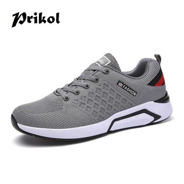 Prikol Luxury Brand Men Sport Shoes Breathable Sneakers Athletic Leather Tennis  Shoes Fitness Light Soft Cool