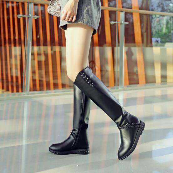 39 Femmes as Luxe 34 Cuir Rond En Picture Souple 2018 Mujer Démissionner Piste Bout Taille De Zapatos Talons Marque As Bas Picture Bottes ZkXiPuOT
