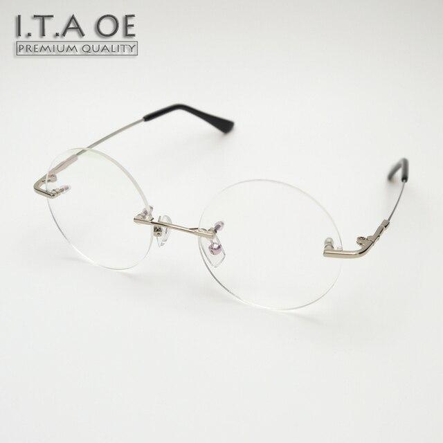 d26f80e91fc90 Steve Jobs ITAOE 1 Estilo Ultra Liga Leve Homens Miopia Sem Aro Óculos De  Leitura Óptica