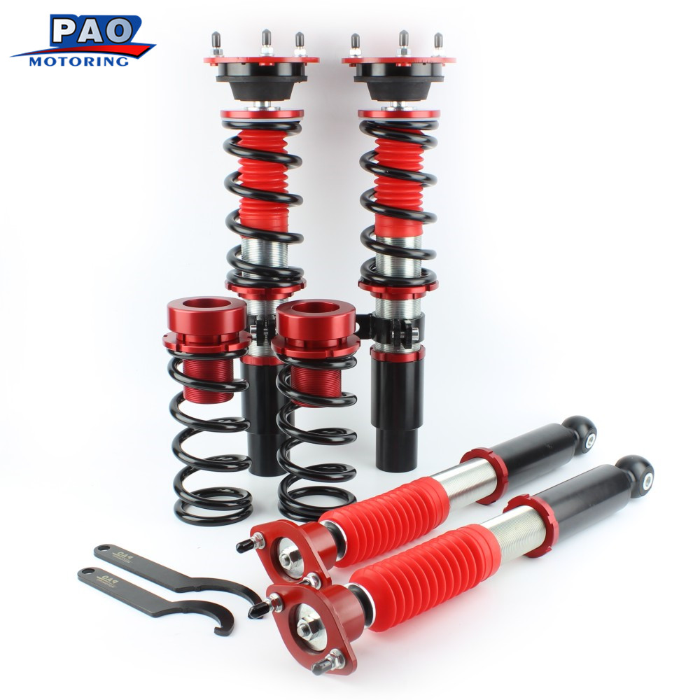 PAO MOTORING Coilover Shock Absorber For BMW E46 Suspension 3 Series 318i 320i 325i 328i Non Adjustable Damper Struts Kit ковш gipfel ultra 2652