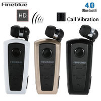 100 Original Fineblue F910 Wireless Driver Auriculares Bluetooth Earphone Vibration Wear Clip Stereo Sport Headset For