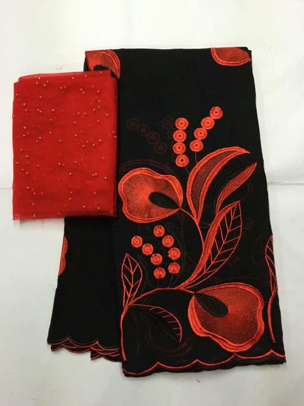 Tissus nigérians pour mariage voile suisse blanc avec broderie 100% coton tissu africain 2019 haute qualité FYD05