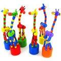 Новая Мода Дети Интеллект Игрушка Танцы Стенд Красочные Качалки Жираф Деревянные Игрушки Обучения и Образования