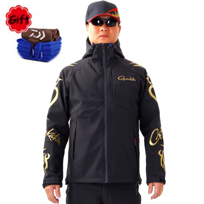 2018 Autumn Winter Men Outdoor Sports Fishing Clothing Jacket New Fishing Suit Fleece Warm Soft Shell Waterproof Battle Jacket