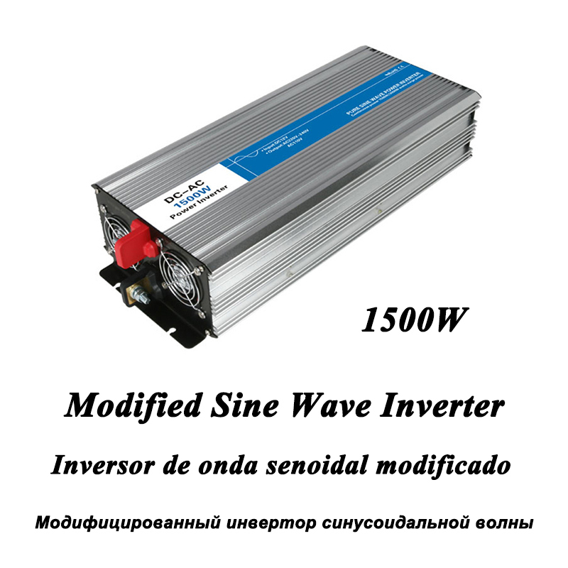 DC-AC 1500W Modified Sine Wave Inverter,LED Digital Display,with USB,DC to AC Frequency Converter Voltage Electric Power Supply