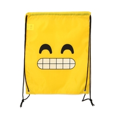 2019 New Fashion Cute Emoji Drawstring Backpack Bags 12 Pack Cute Assorted Emoticon Party Favors