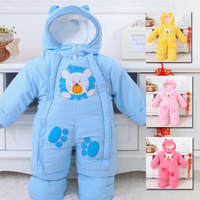 Autumn & Winter Newborn Infant Baby Clothes Fleece Animal Style Clothing Romper Baby Clothes Cotton padded Overalls