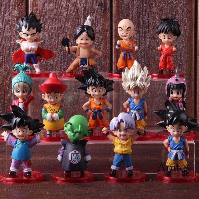 Dragon Ball Z Trunks Son Goku Gohan Goten Vegeta Piccolo Upa Bulla Chichi Krillin Action Figure Collectible Model Toys 13pcs/set