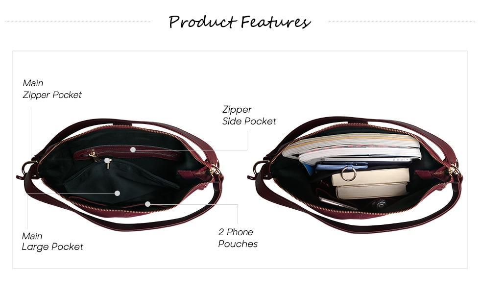 iStylishmall - Real Split Suede Leather Shoulder Bag Female Leisure Nubuck Casual Handbag Hobo Messenger Top-handle bags