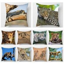 Fuwatacchi Cheetah Leopard Cushion Cover Wild Animal Print Throw Pillows for Home Sofa Chair Car Decorative Case