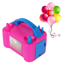 цена на Portable Air Blower High Voltage Double Hole AC Inflatable Electric Balloon Pump Air Balloon Pump Electric Balloon Inflator Pump