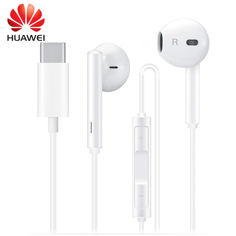 Huawei Earphone CM33 Classic In-ear Earphones USB Type-C for Huawei Mate 10 Wired Earphone with Control Stereo In Ear Earbuds usb type c metal hi fi stereo earphones wired control type c earbuds for huawei google moto z letv leeco le max 2 pro htc phone