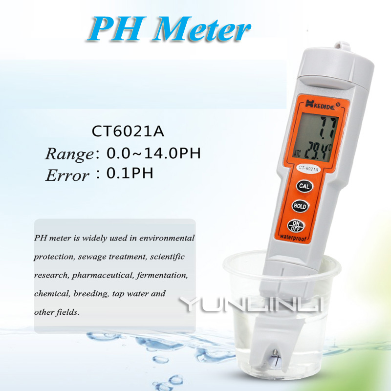 Testeur de PH de mètre de conductivité tenu dans la main testeur de qualité de l'eau d'aquarium de baignoire de haute précision CT-6021A