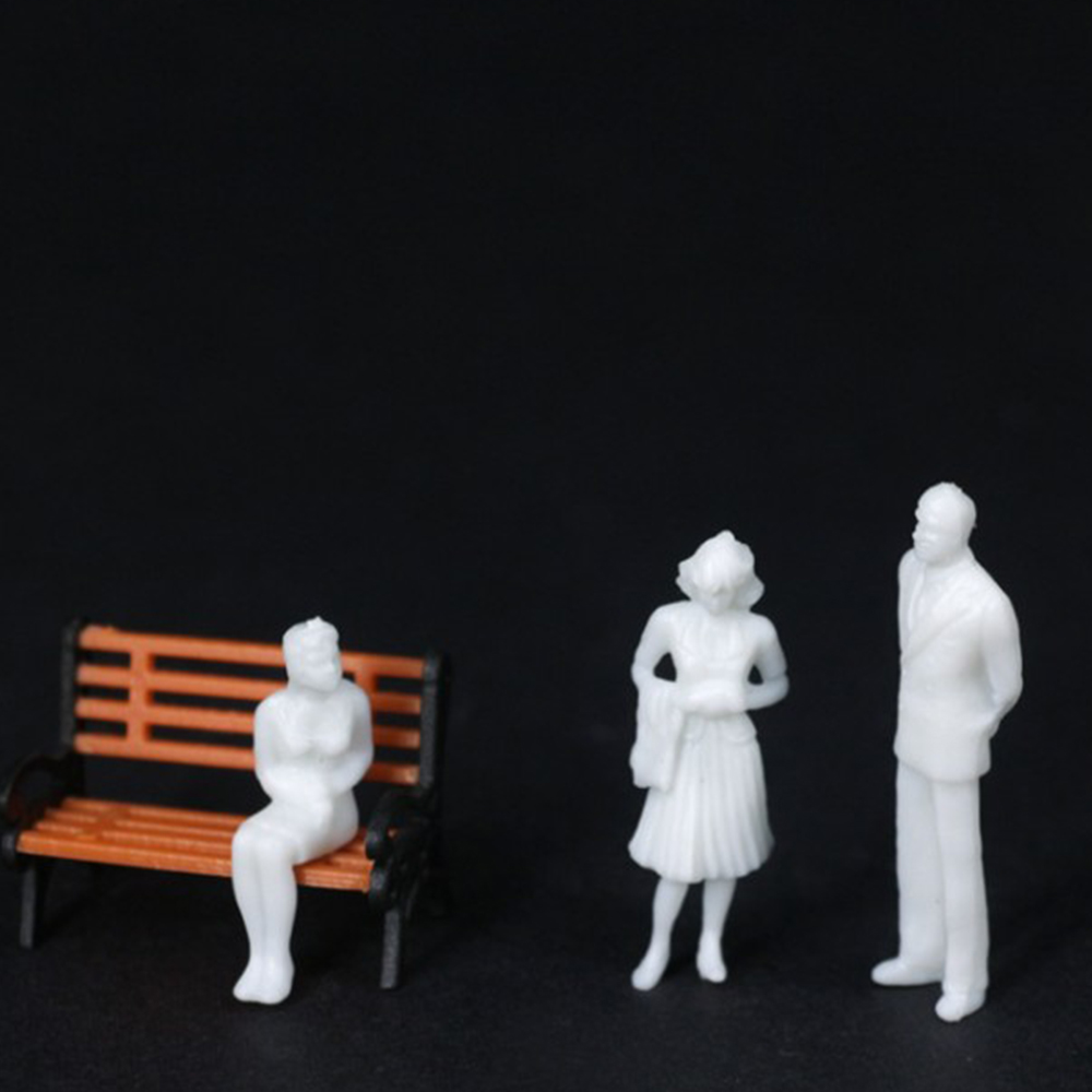 1;100 MIXED 100pcs Miniature White Figures Architectural Model Human Scale HO Model ABS Plastic Peoples 2.0cm