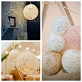 2 pcsDIY lantern lamp Cotton cord  hand crochet crochet lace weave around pad vintage/ rustic wedding decoration home decora