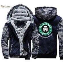 Star Wars Hoodie Men Cool Hooded Sweatshirt Coat 2018 Brand Thick Fleece Warm Camouflage Join The Empre Jacket Clothing
