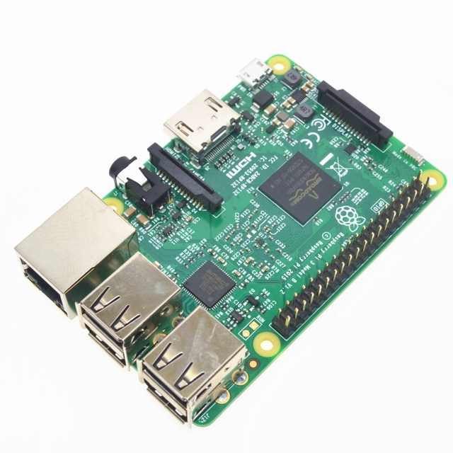 2016 Nova Placa Raspberry Pi 3 Modelo B 1 GB LPDDR2 BCM2837 Quad-Core Ras PI3 B, 3B PI, PI 3 B com WiFi & Bluetooth Versão Element14