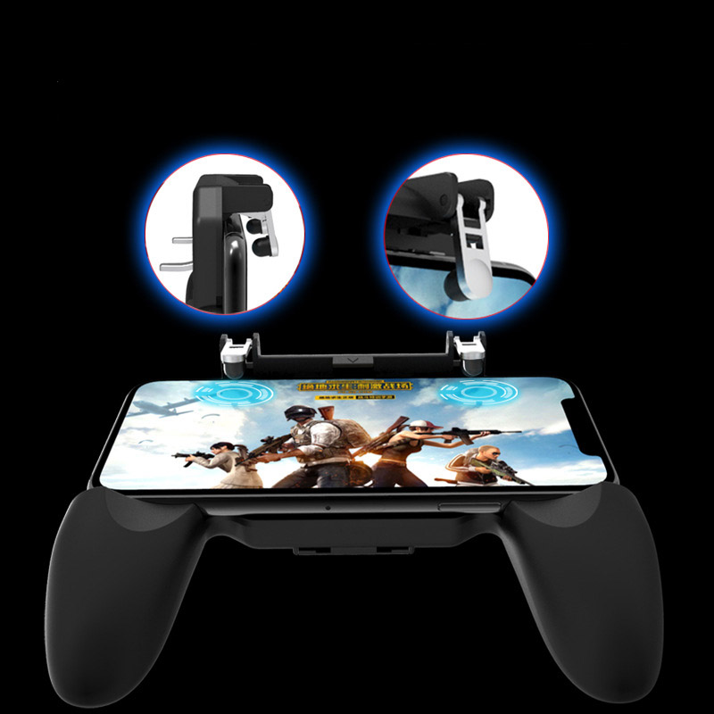 Image 2 - 3 in 1PUBG Smart Phone Mobile Gaming Trigger Pubg Controller Fire Button Aim Key L1 R1 Gaming Joysticks Mobile Gamepad-in Gamepads from Consumer Electronics