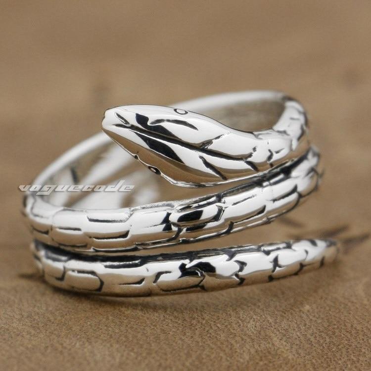 Bagues pour femmes remontage Serpent Snkake 925 bague en argent Sterling 9G010