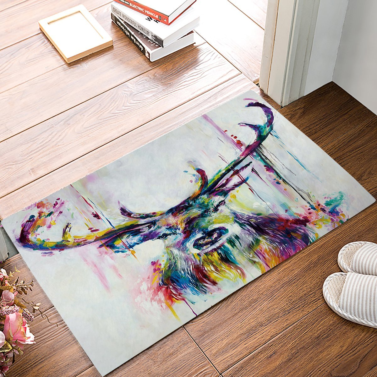 Abstract Ink <font><b>Deer</b></font> Door <font><b>Mats</b></font> Indoor Kitchen Floor <font><b>Bathroom</b></font> Entrance Rug <font><b>Mat</b></font> Carpets Home Decor Bath Doormats image