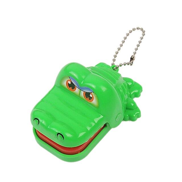 New Crocodile Toy Dentista Mordida Com Keychain Verde