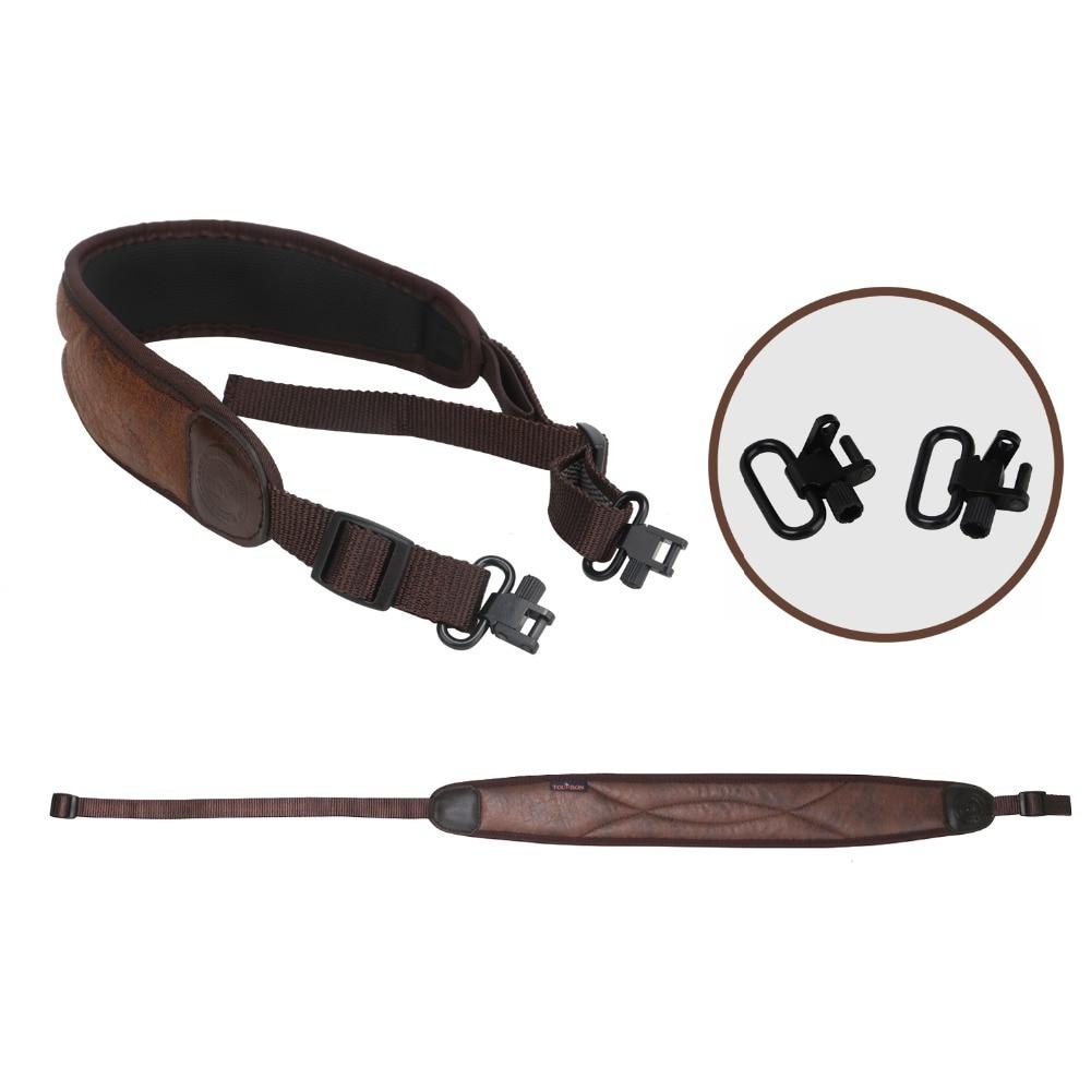 Tourbon Tactical Hunting Gun Accessories Rifle Shotgun Sling Gun Belt Strap Non slip 62 97CM w/Swivels Adjustable Neoprene(1SET)-in Holsters from Sports & Entertainment