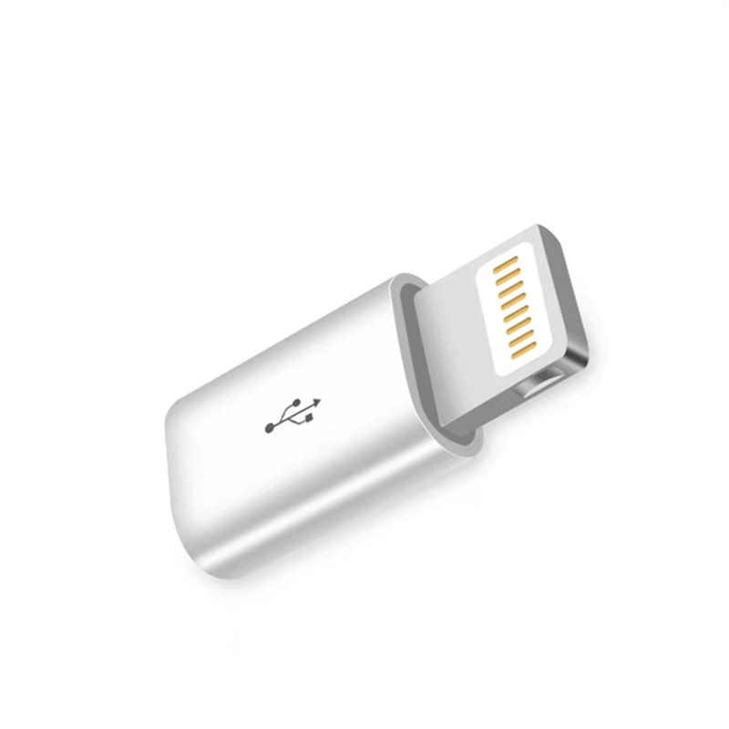 Android Micro USB to 8 Pin <font><b>Adapter</b></font> Connector for <font><b>iPhone</b></font> 5 5S 5C SE 6 6S <font><b>7</b></font> 8 Plus X XS Max XR Data Sync Charging Cable Converter image