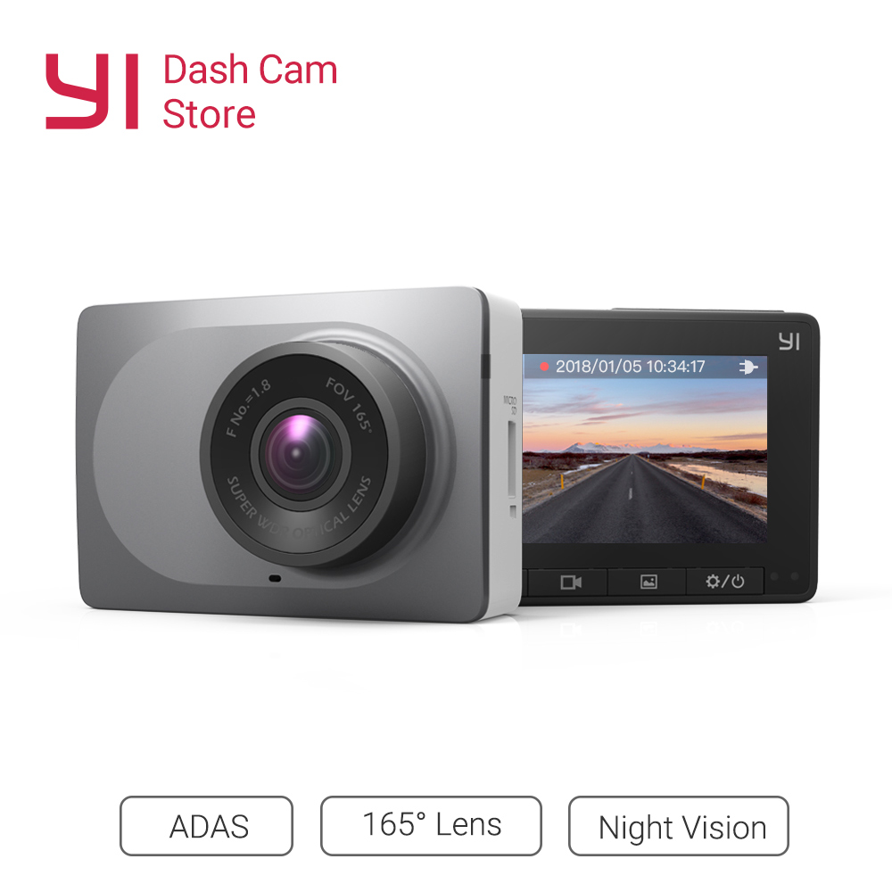 YI Smart Dash Camera Full HD Car DVR Cam Video Recorder WiFi  Night Vision 1080P 2.7 165 Degree 60fps Camera Grey Car RecordingYI Smart Dash Camera Full HD Car DVR Cam Video Recorder WiFi  Night Vision 1080P 2.7 165 Degree 60fps Camera Grey Car Recording