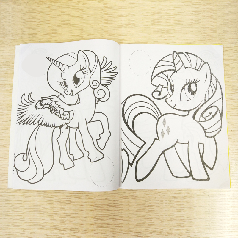 Big Discount D3db 20x27cm 16 Page Pony Coloring Book Sticker