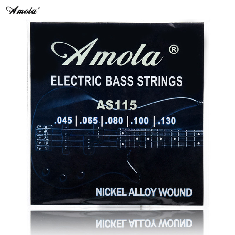 Original Amola AS115 045130 Bass Guitar strings bass string 5 Electric bass strings Medium 1 sets belcat bass pickup 5 string humbucker double coil pickup guitar parts accessories black