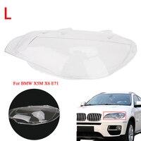 Стайлинга автомобилей левой ясно Корпус фар линзы В виде ракушки крышка лампы для сборки BMW x5m X6 E71 Замена Стекло LED объектив крышка/