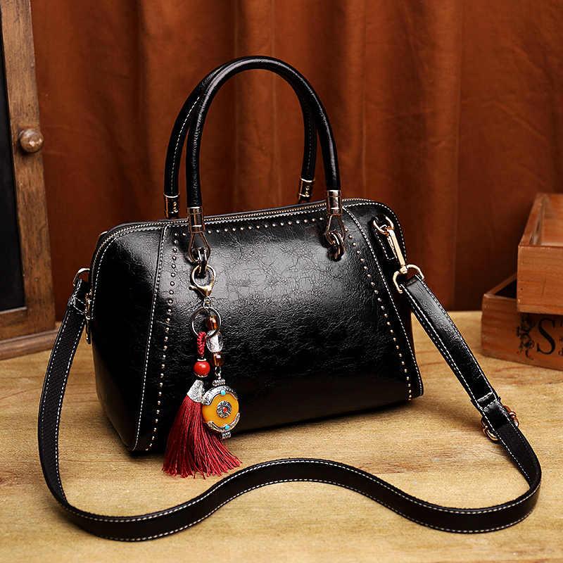 Bolsos de cuero genuino para mujer, bolsos de lujo, bandolera, bolso de diseñador